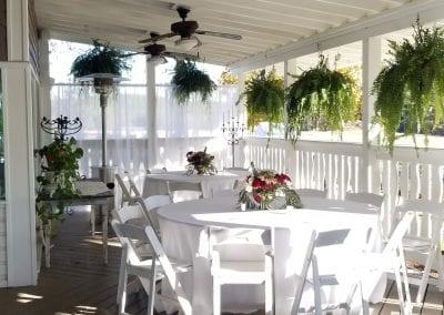 decorated patio