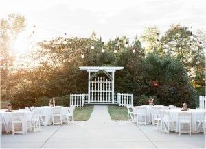 small ceremony arrangement