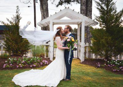 Birmingham Wedding Venue, kissing at Camelot Manor