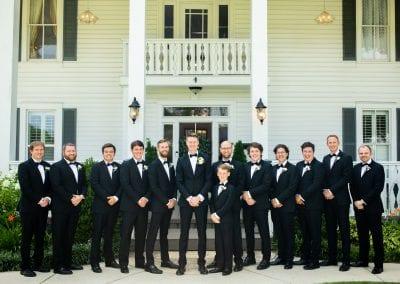 groomsmen posing