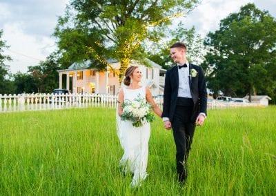 newlyweds strolling
