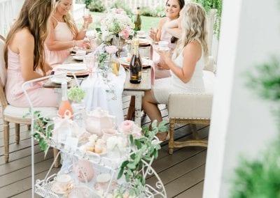 bridesmaids at tea