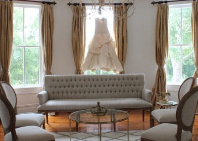 indoor seating area with gown