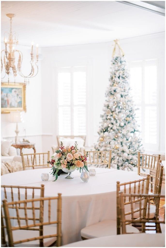 Christmas Tree at Wedding