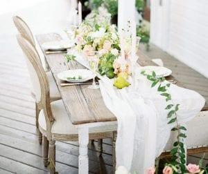 table settings wedding venue