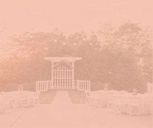 ceremony site with pink overlay