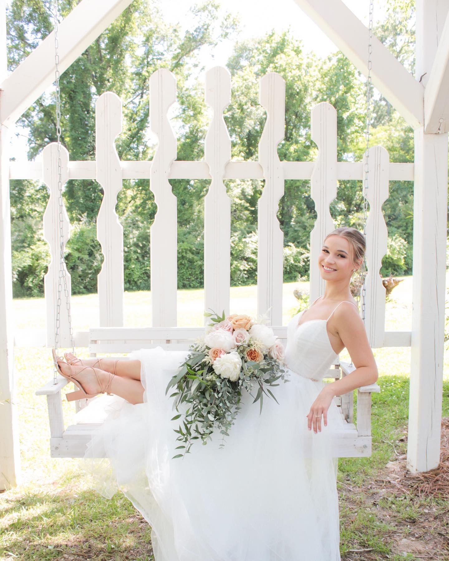 Bride in Swing, Birmingham Wedding Venue Camelot Manor