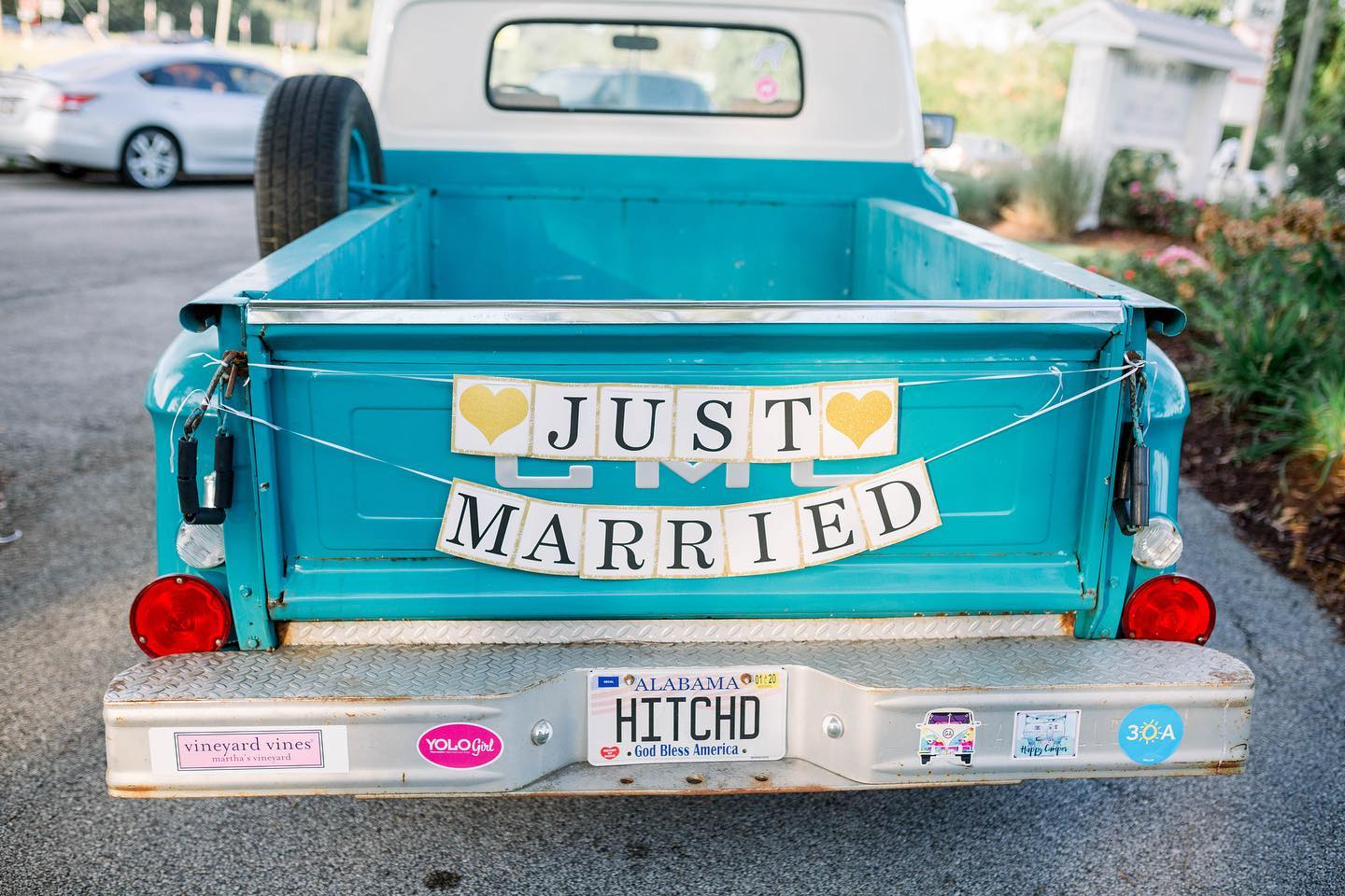 hitched old truck